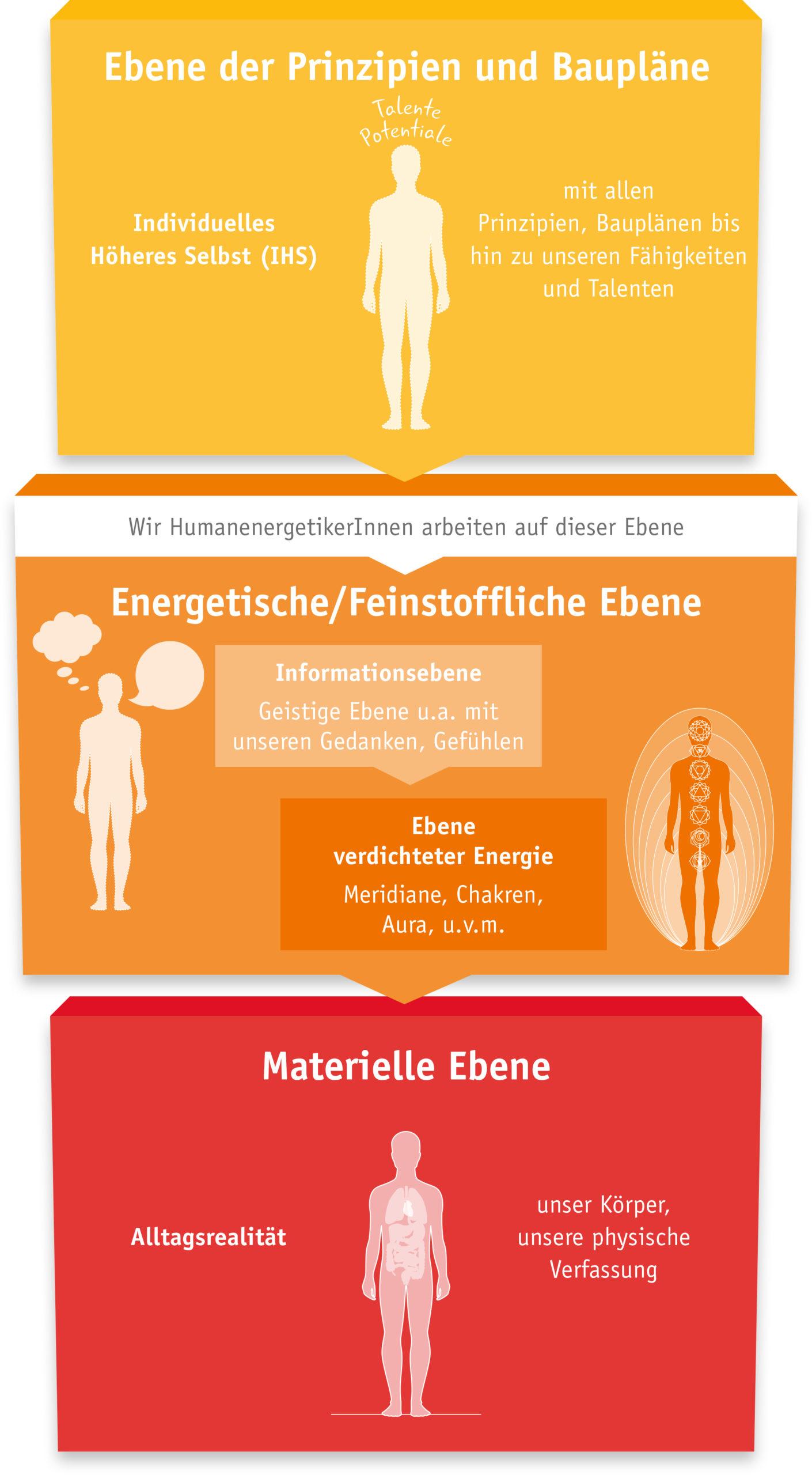 3 Ebenen Modell der Humanenergetik